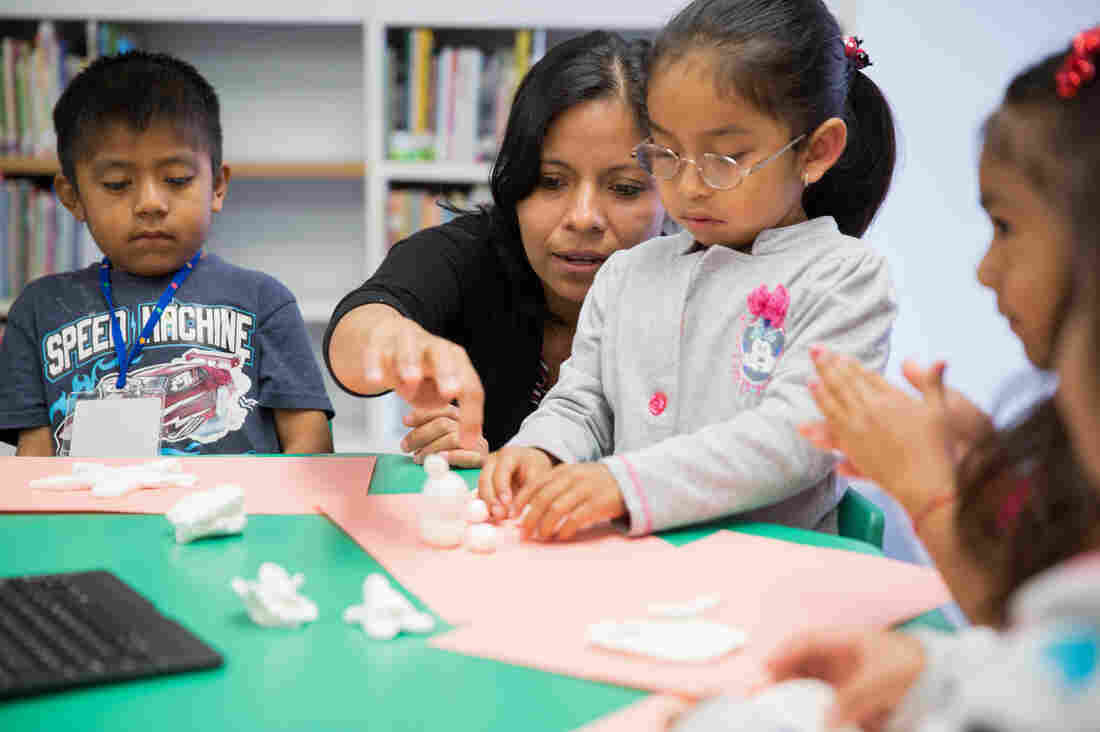 Argelia Zarate, a Mixteco interpreter at the Oxnard School District, encourages students to practice their native languages.