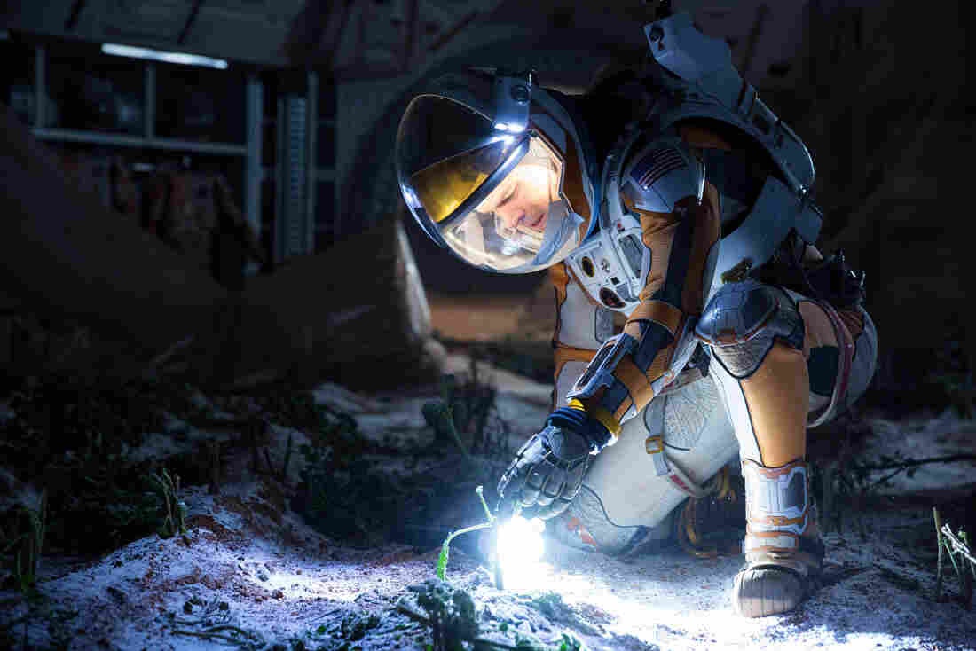 Matt Damon portrays an astronaut who relies on science to survive on a hostile planet.