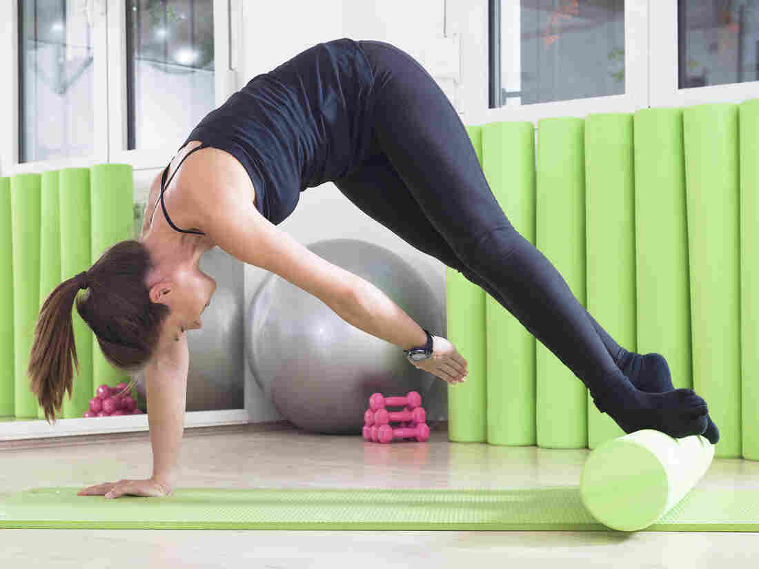 You don't have to get this fancy with a foam roller to gain benefits, researchers say.