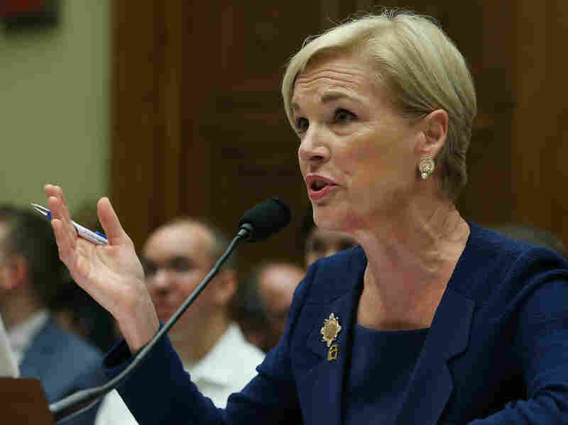 Cecile Richards, president of Planned Parenthood, testifies during a hearing on Capitol Hill Tuesday.