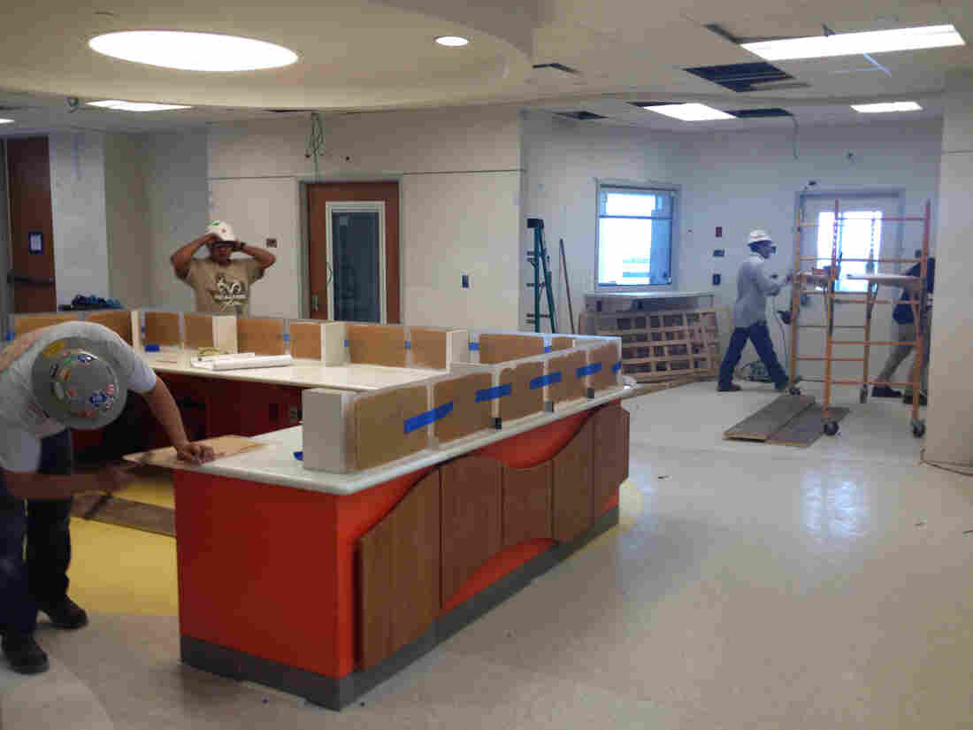Workers are still about a month from finishing up the 8-bed isolation unit at Texas Children's Hospital. The unit's goal is to provide for the special physical and emotional needs of kids with highly infectious diseases.