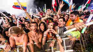 Festivalgoers at TomorrowWorld Electronic Music Festival in 2013.