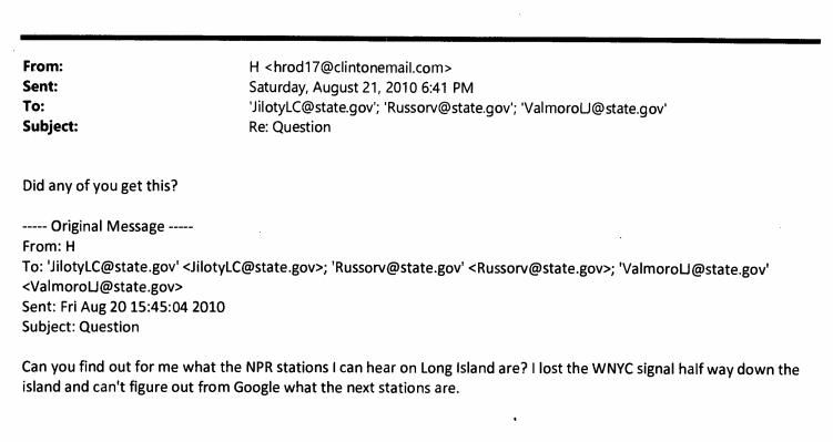 We'd be sad if we couldn't find our NPR station too. (Source: State Department)