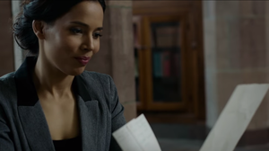 "Rhiannon Giddens in a scene from her new video for the song ""Black Is the Color."""