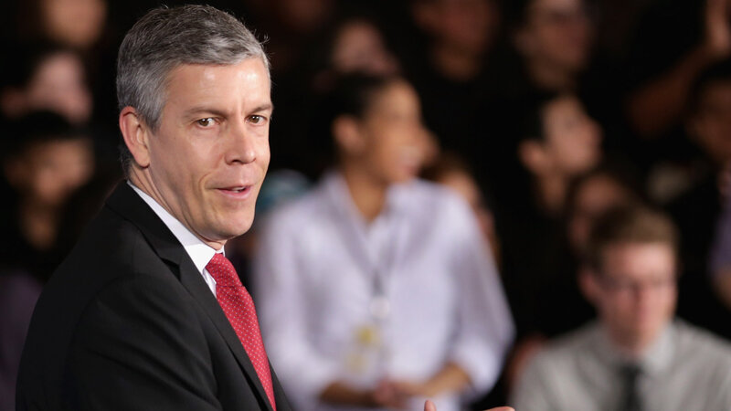 Education Secretary Arne Duncan said in a letter to his staff that he will step down to spend more time with his family, who live in Chicago.