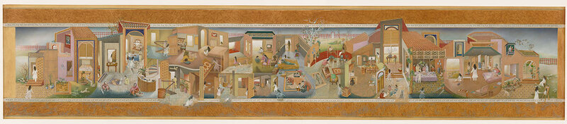 The Scroll, Sikander's graduate thesis, depicts the life of a modern Pakistani woman. Click here to enlarge.