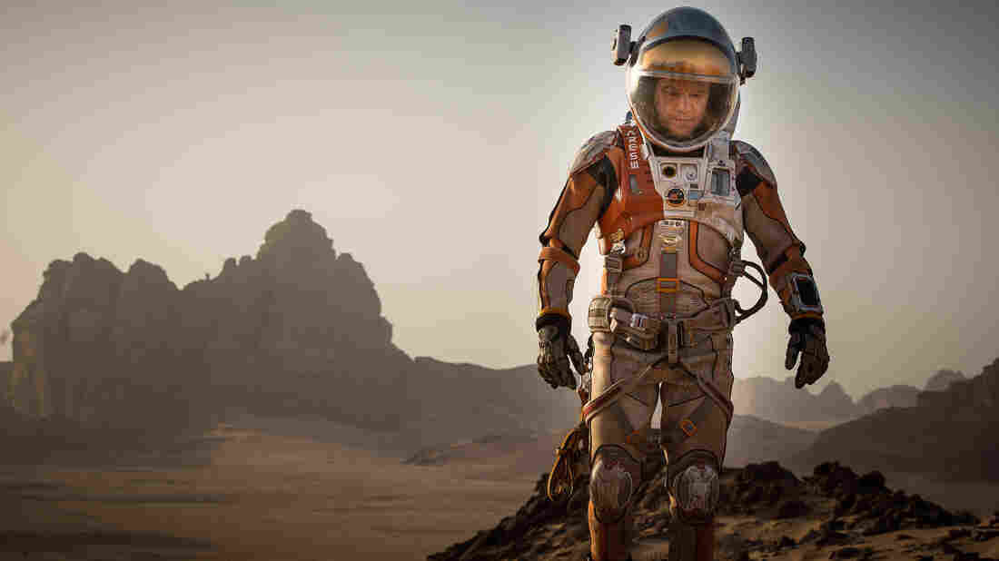Matt Damon plays Mark Watney, the stranded astronaut at the heart of The Martian.