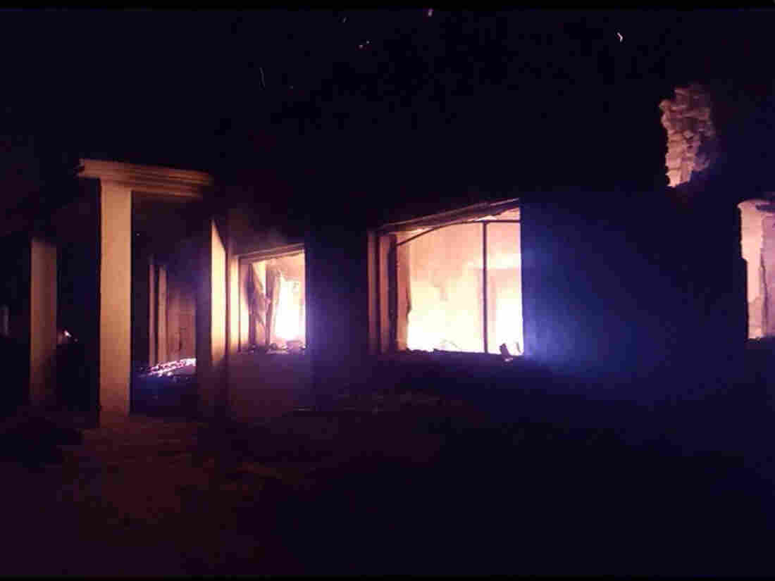 The trauma center operated in Kunduz by Doctors Without Borders was in flames after U.S. airstrikes on Saturday that left 22 dead, including medical staff and patients.