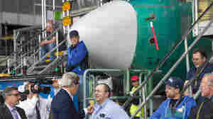 Secretary of State John Kerry (left) greets Boeing employees in May prior to talking about the benefits to U.S. exporters of the Trans-Pacific Partnership.