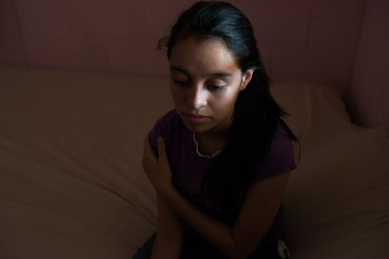 After Aby Salas' best friend disappeared, she stopped leaving her house except to go to school. (Encarni Pindado/for NPR)