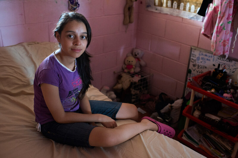 Aby spends most of her time in her room these days. She wants to study law or work for NASA someday. (Encarni Pindado/for NPR)