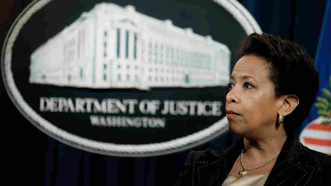 """""""I think that if anyone is living in a place where they don't feel safe, they're going to have tension, whether that's a community member or a member of law enforcement,"""" Attorney General Loretta Lynch told NPR."""
