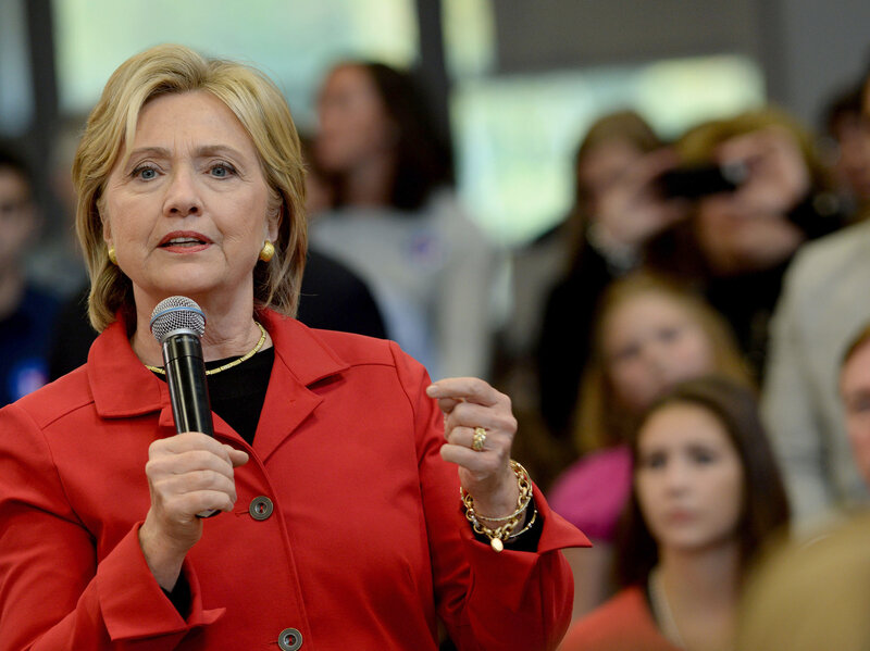 Clinton wants gun manufacturers to be held more liable for crimes committed with their weapons. (Darren McCollester/Getty Images)