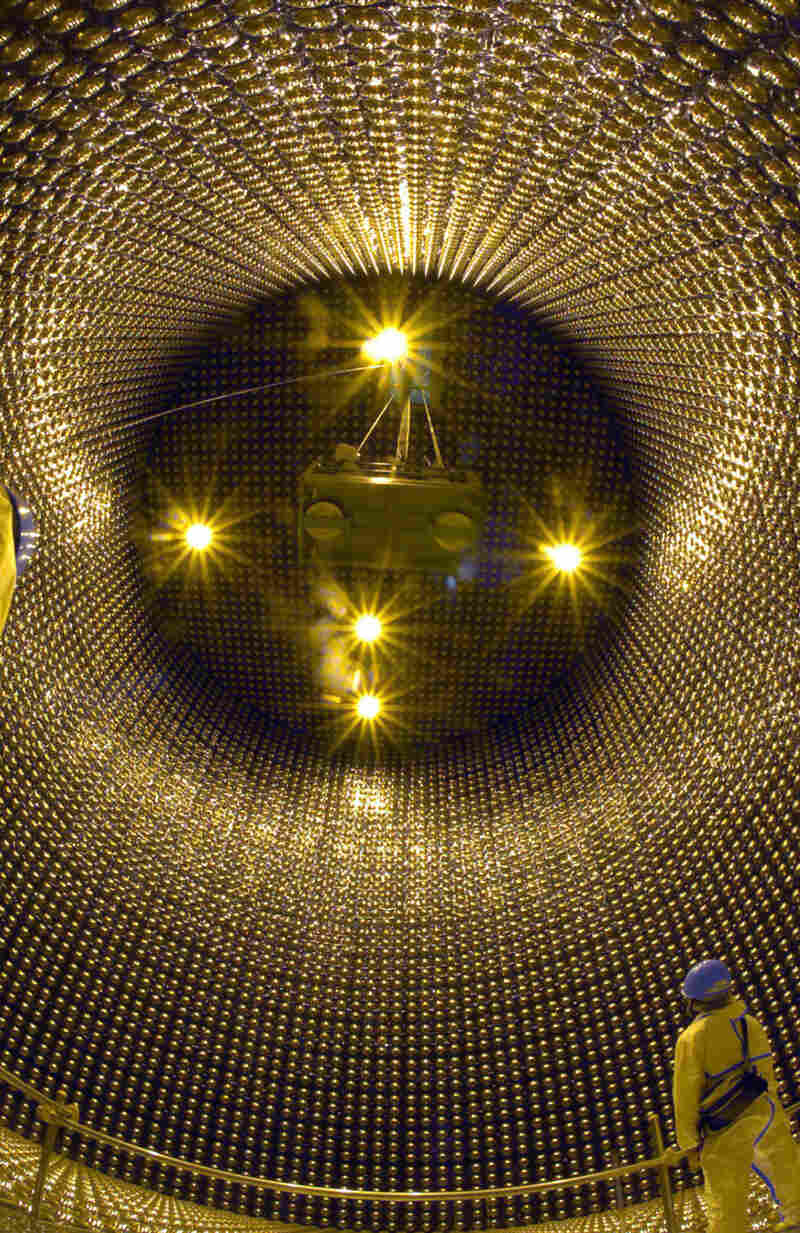 """The """"Super-Kamiokande"""" neutrino detector operated by the University of Tokyo's Institute for Cosmic Ray Research helped scientist Takaaki Kajita win a share of the Nobel Prize in Physics, along with Canadian Arthur B. McDonald."""