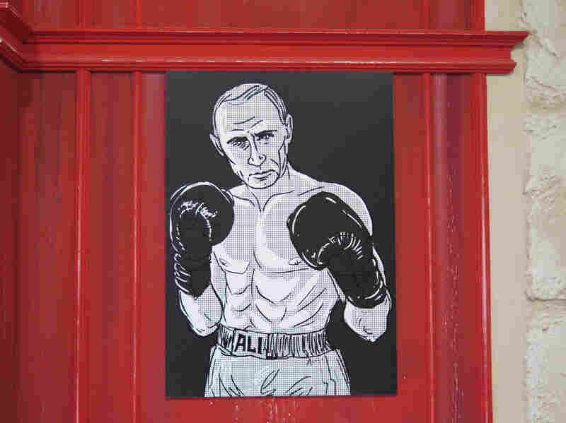 Putin was also depicted as Muhammad Ali.