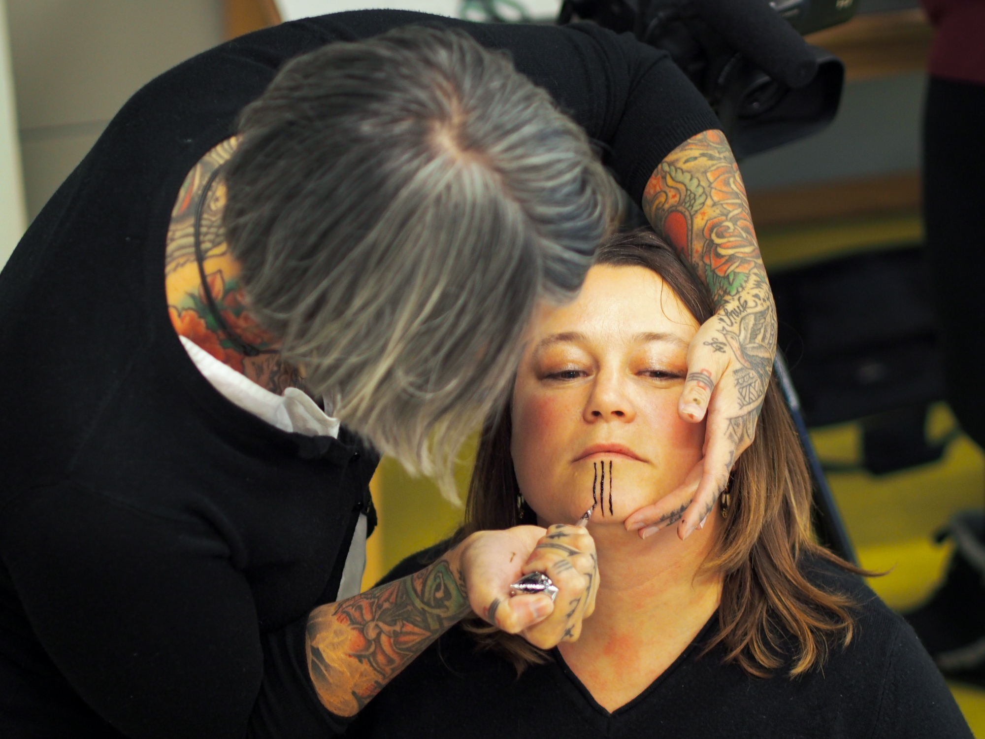 A return to native roots traced in ink ncpr news for Tattoo parlors in anchorage