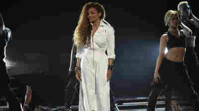 Janet Jackson accepts the ultimate icon: music dance visual award at the BET Awards June 28, 2015, in Los Angeles.
