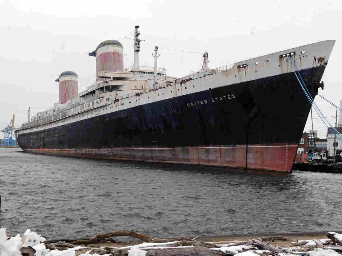 The SS United States ocean liner, seen here docked in Philadelphia in 2013, was built in 1952 for United States Lines in an attempt to capture the trans-Atlantic speed record.