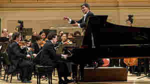 Alan Gilbert leads the New York Philharmonic, with pianist Evgeny Kissin, at Carnegie Hall's gala opening concert, Oct. 7.