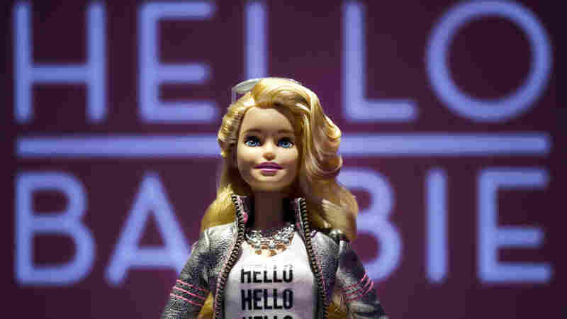 Hello Barbie is displayed at the Mattel showroom at the North American International Toy Fair in New York.