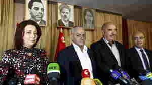 Tunisia's National Dialogue Quartet, represented here at a news conference in 2013, won the Nobel Peace Prize on Friday for the group's contribution to building democracy after the Jasmine Revolution in 2011.