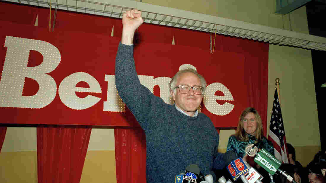 Bernie Sanders in 1990 after winning a seat in Vermont's House.