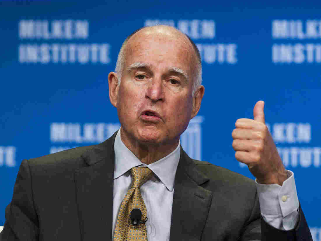 "California Gov. Jerry Brown signed into law the state's  ""motor voter"" law in hopes of boosting turnout in future elections. The state had 42 percent turnout in the 2014 midterms, a record low."