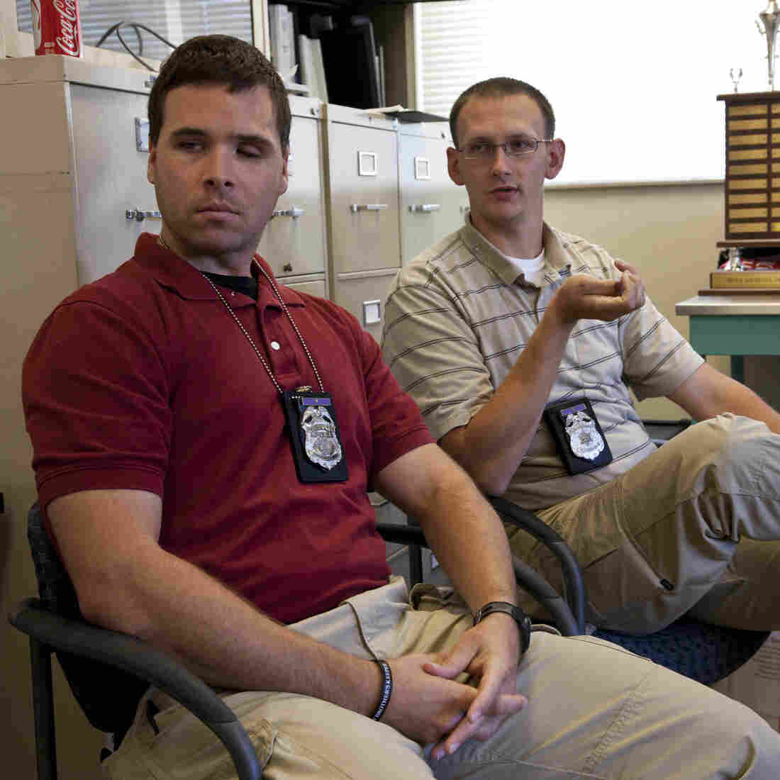 Milwaukee police officers Bryan Norberg (right) and Graham Kunisch were both shot in 2009. Tuesday, they won a jury award of nearly $6 million against the gun store that sold the weapon used against them.