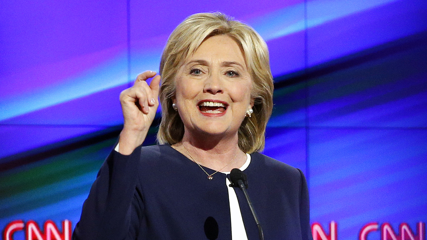 clinton takes first step to dispel doubts about candidacy it s all