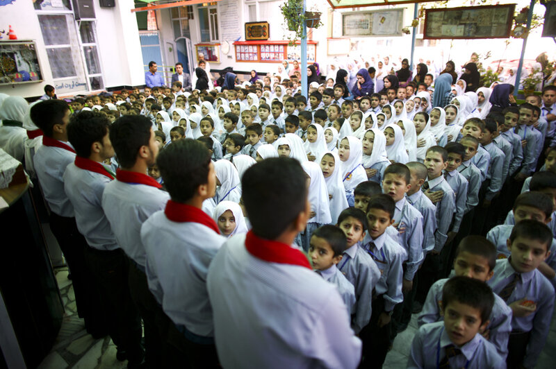 Tanweer School is a private school in a lower middle class neighborhood on the south side of Kabul. (David Gilkey/NPR)