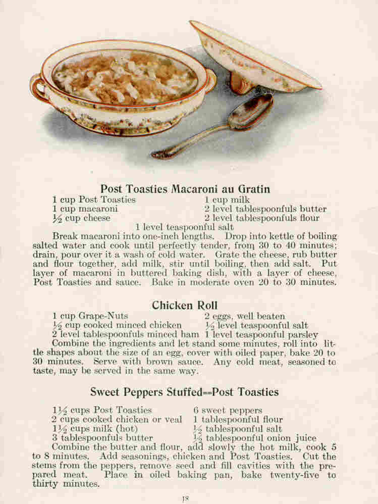 A leftover recipe from the early 20th century.