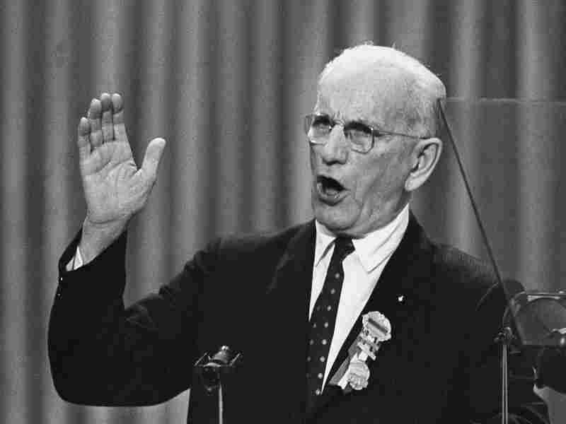 Speaker John W. McCormack, the chairman of the Democratic Convention in Atlantic City, blasts Republicans Aug. 25, 1964, as he delivers his speech to convention delegates. He charged that the GOP had been captured by extremists who used methods of totalitarian movements.