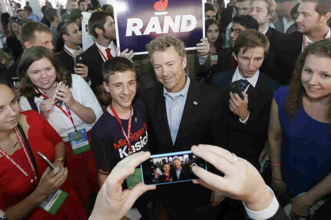 Presidential candidates have to put up with the ubiquity of mobile devices, as Rand Paul did posing for photos at a campaign event in Michigan last month. But for Paul, a full day of live streaming his campaign was too much.