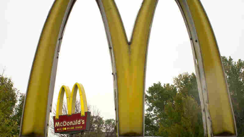Golden arches of McDonald's.