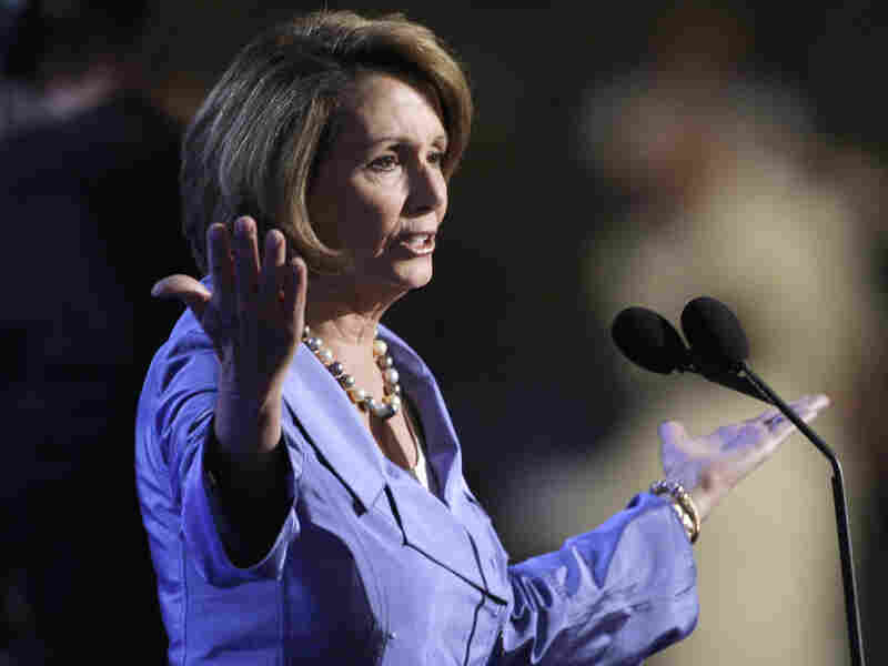 Speaker of the House Nancy Pelosi introduces the presidential nomination process at the 2008 Democratic National Convention in Denver.