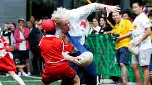 WATCH: Politicians Usually Kiss Kids, London's Boris Johnson Tackles 'Em