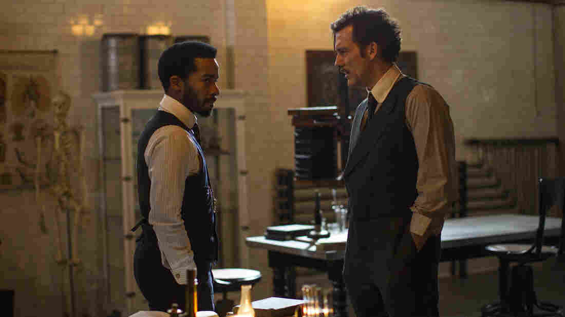 Andre Holland (left) and Clive Owen get serious in Episode 3 of the second season of The Knick.