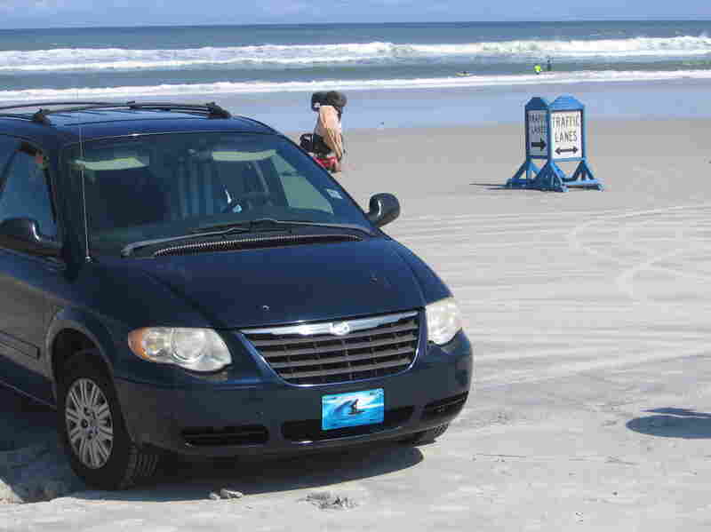 To minimize confusion, many beaches in Volusia county have signs to differentiate lanes for cars and trucks on the sand.