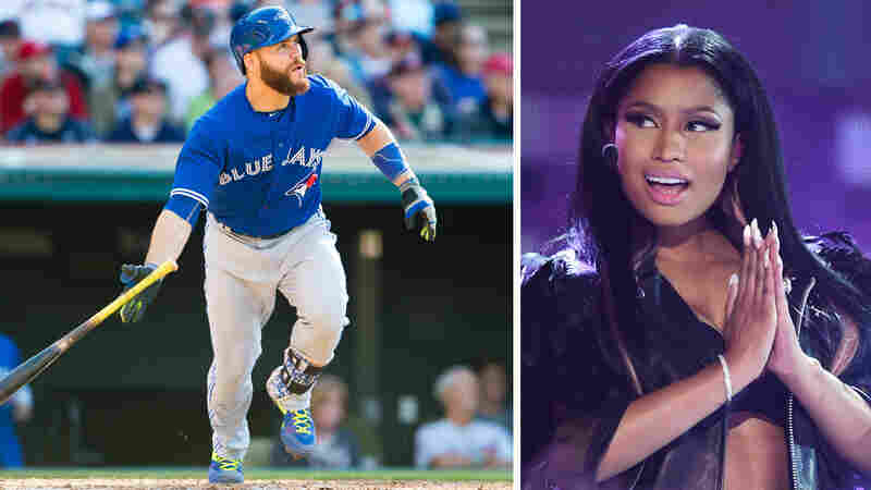 "Russell Martin of the Toronto Blue Jays chose the Nicki Minaj song ""Truffle Butter"" for his walk-up music."