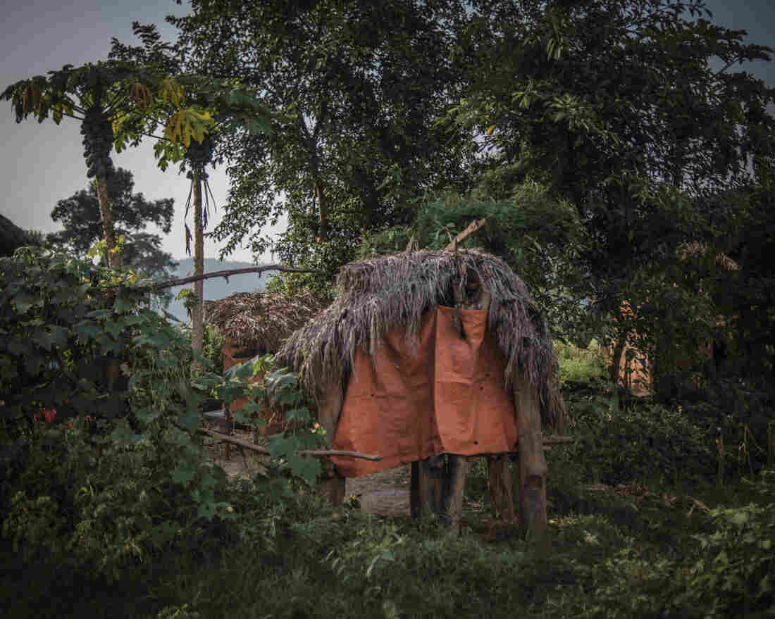 A menstrual shed sits among the trees in the village of Narsi in western Nepal.