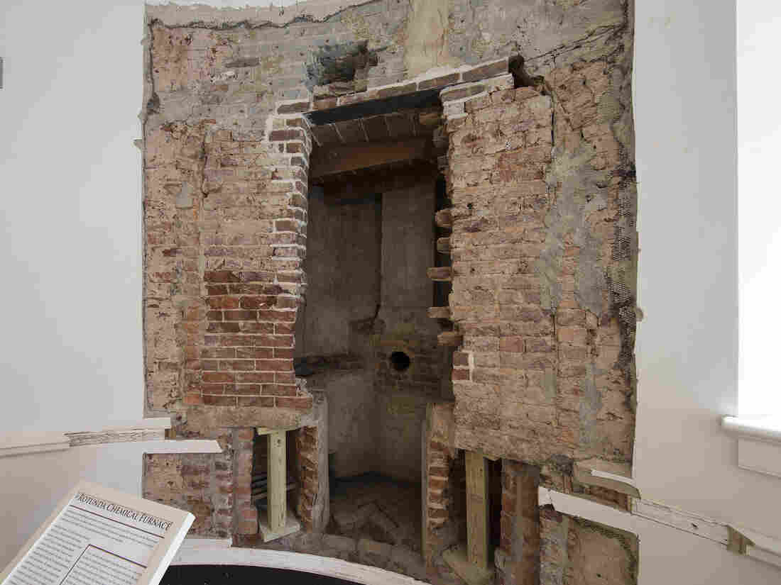 A chemical hearth recently discovered in the walls of the Rotunda at the University of Virginia dates back to its Jeffersonian origins.