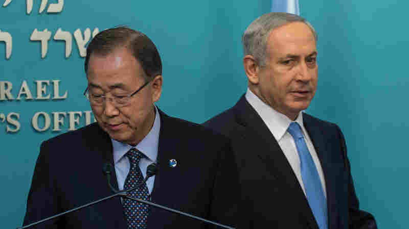 U.N. Secretary-General Ban Ki-moon In Jerusalem Urges Calm As Violence Continues