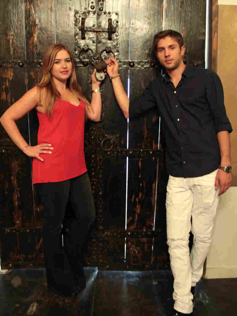 "Natalie Lapidus and her husband Ruslan Balashov own Maze Rooms. The lock on the door to the ""castle room"" must be unlocked by players who solve clues that lead to a pair of keys."