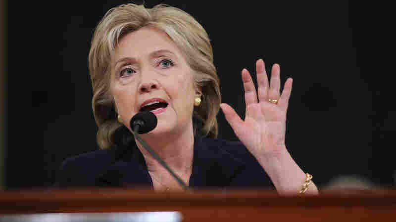 Democratic presidential candidate and former Secretary of State Hillary Clinton testifies before the House Select Committee on Benghazi.