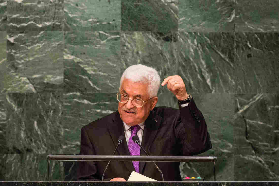 Palestinian Authority President Mahmoud Abbas speaks at the United Nations General Assembly last month. Palestinian leaders say Israelis have made many inflammatory remarks that have heightened tensions.