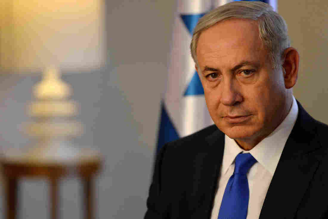 Israeli Prime Minister Benjamin Netanyahu in Berlin on Thursday. The Israeli leader has accused Palestinian officials, including Palestinian Authority President Mahmoud Abbas, of incitement and says it has contributed to violence against Israelis.