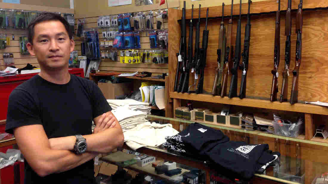 Chris Cheng is a customer at High Bridge Arms, San Francisco's last gun store.