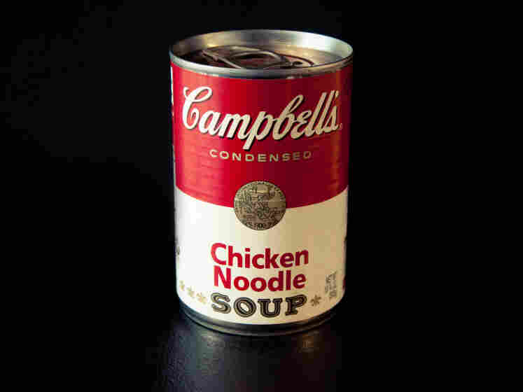 Campbell's soup cans became famous due to Andy Warhol's paintings.