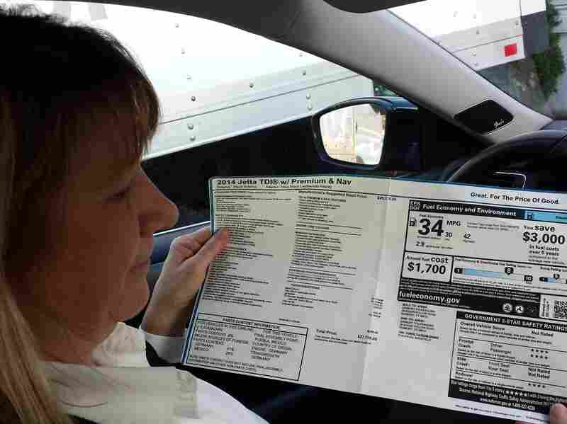 Kim Johnson of Ridgefield, Conn., says her 2014 Jetta lost more than $1,000 in value because, once fixed, it will no longer get the advertised mileage.