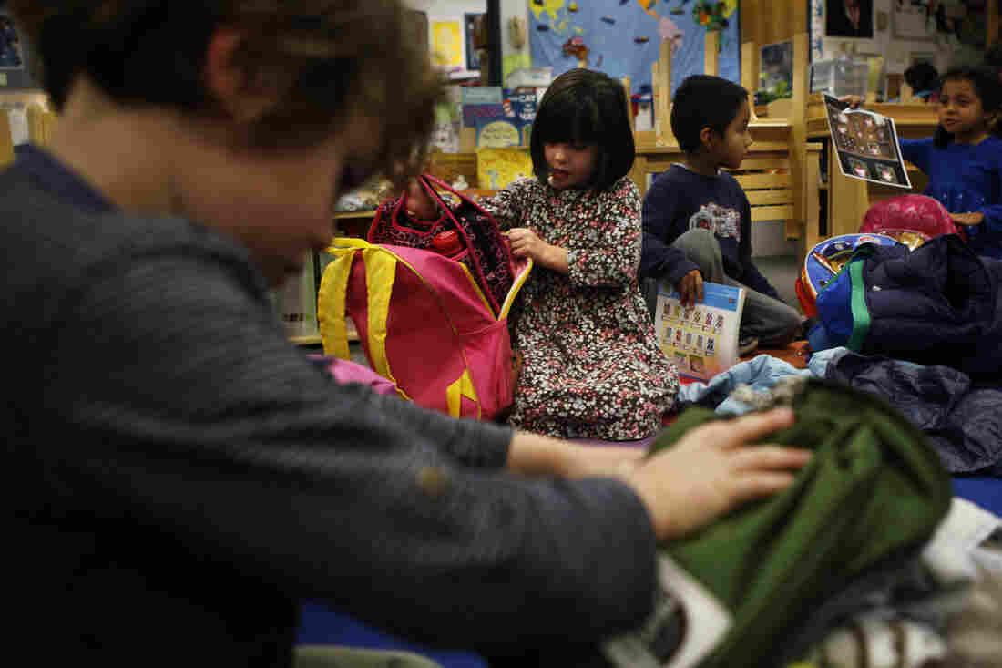 Students in Amanda Watson's preschool-kindergarten classroom.
